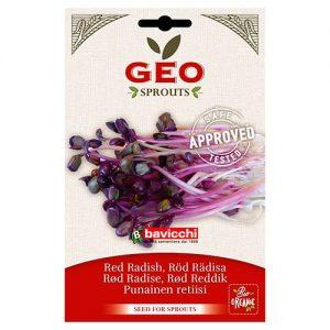 Geo Red Radish Rädisfrö att grodda