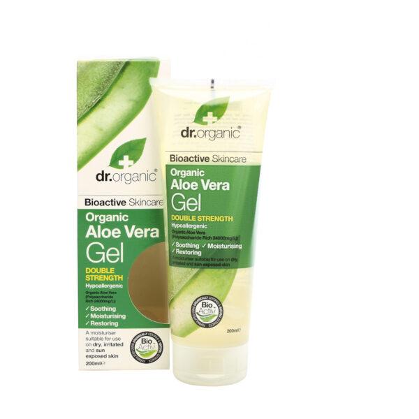 Dr Organic Hudgel Aloe Vera ger omedelbar kylande och lugnande effekt på huden, bra vid hudklåda eller som After sun.
