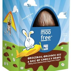 MOO FREE CHOKLADÄGG ORIGINAL ORGANIC EGG WITH CHOCCY DROPS 125G