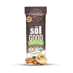SUNWARRIOR SOLGOOD CINNAMON ROLL PROTEIN BAR 67G