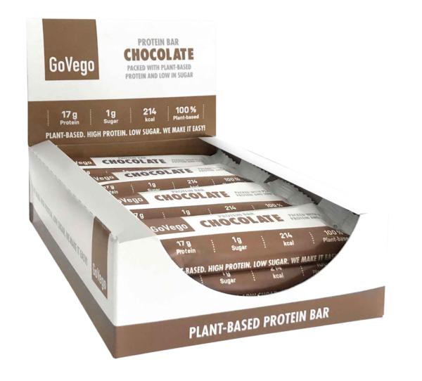 GoVego Proteinbar Choklad Låda