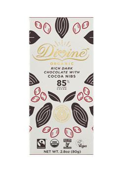 Divine Eko Mörk Choklad med Kakaonibs