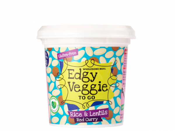 EDGY VEGGIE TO GO RICE & LENTIS RED CURRY 60G