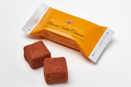 BOOJA BOOJA ORGANIC ALMOND SALTED CARAMEL CHOCOLATE 2PACK