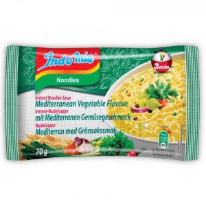 INDOMIE INSTANT NOODLES MEDITERRANEAN VEGETABLE 70G