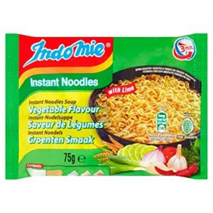 INDOMIE SNABBNUDLAR VEGETABLE MED LIME 5X75G