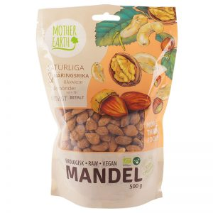 MOTHER EARTH MANDLAR EKOLOGISKA 500G