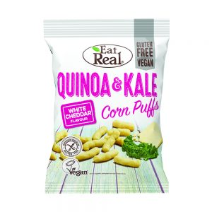 EAT REAL QUINOA and Kale PUFFS WHITE CHEDDAR